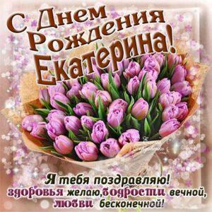 C днем рождения Екатерина тюльпаны