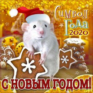 Новый год 2020 крысы открытка