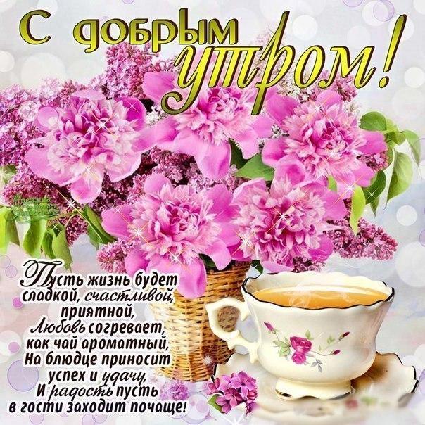 Картинки с цветами с добрым утром хорошего дня пожелания, детские картинки